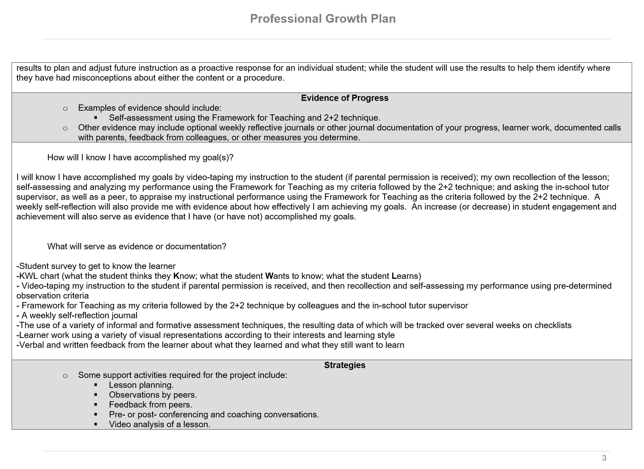professional growth plan p 3 of 7