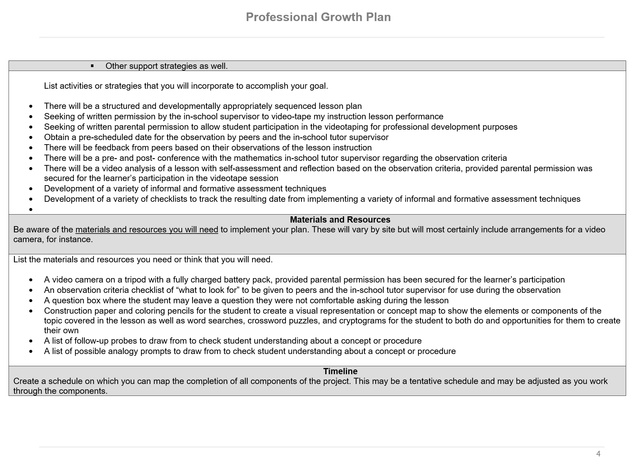 professional growth plan p 4 of 7