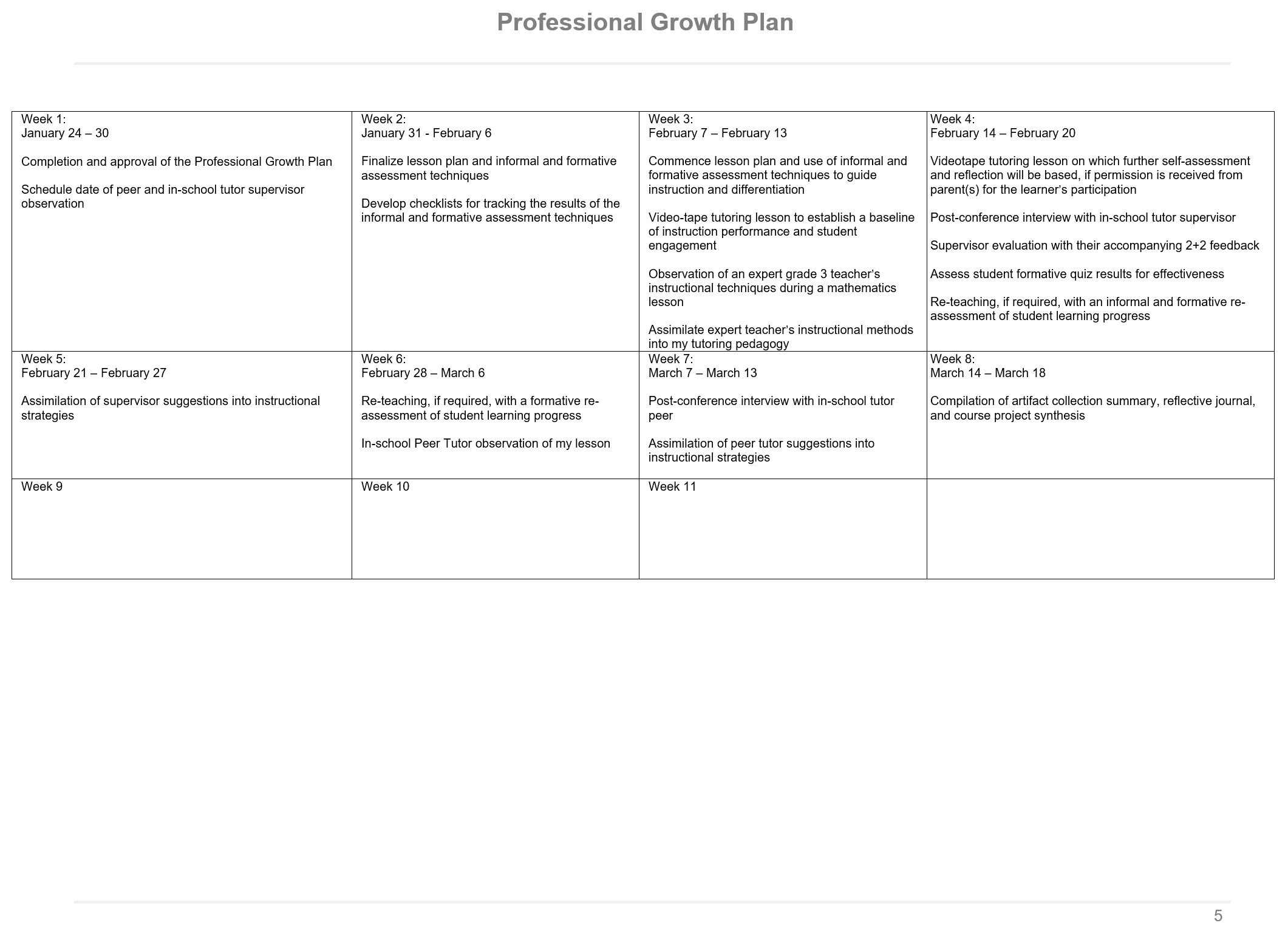 professional growth plan p 5 of 7