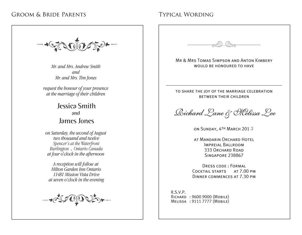 formal wedding invitation - sample re_word representations of numbers