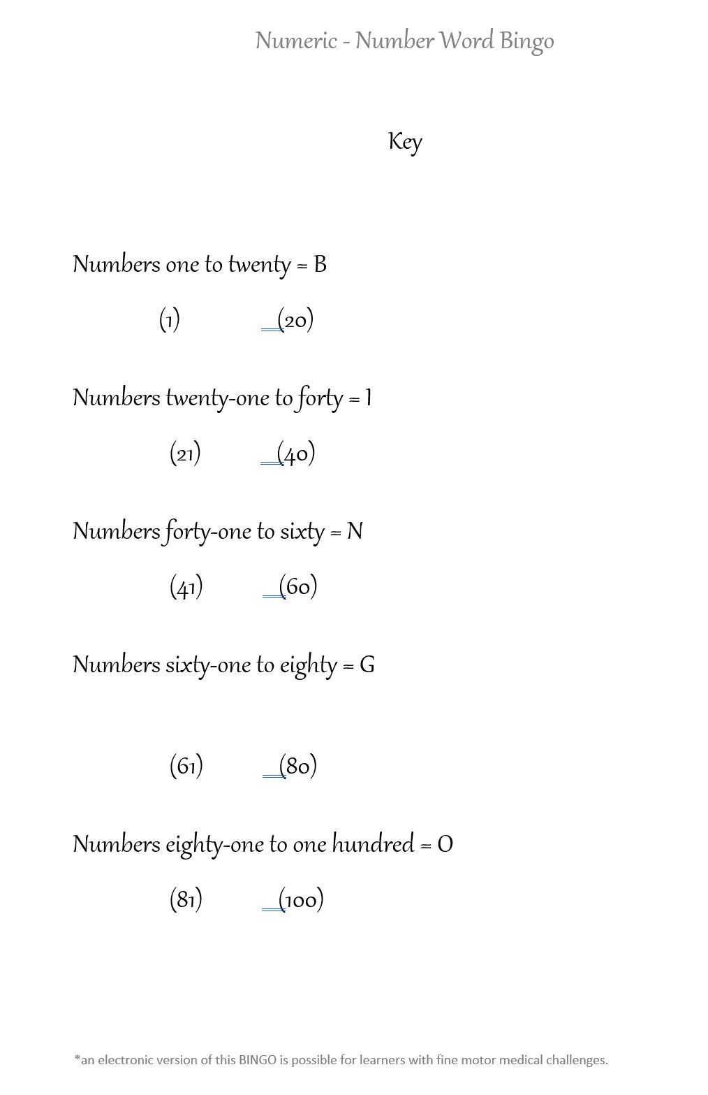 number word bingo pg5 of 5